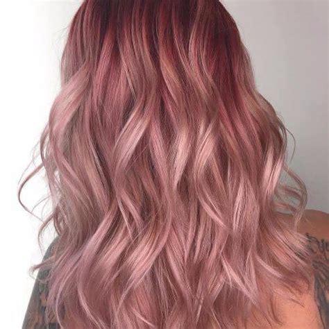 pink hair brown shadow root chocolate strawberry ombre of chocolate strawberry hair color 50 strawberry hair ideas that look amazing