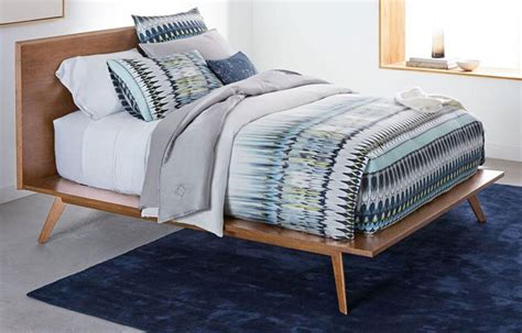 West Elm Platform Bed Retro Bedroom Mid Century Platform Bed At West Elm