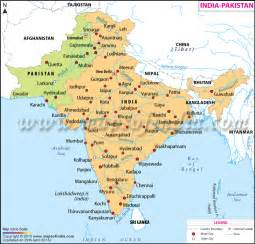 India Pakistan Map by India Pakistan Map Map Of India And Pakistan