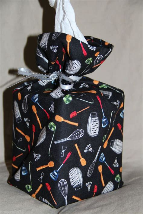 kitchen utensils fabric tissue box cover fabric gift bag toilet paper cover purse cube size