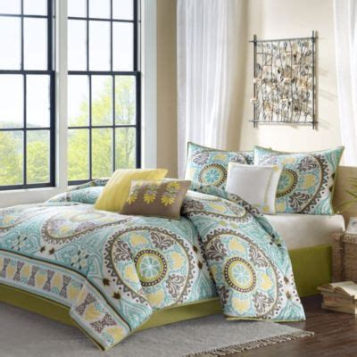 buy bedding sets in yellow blue and green from bed bath