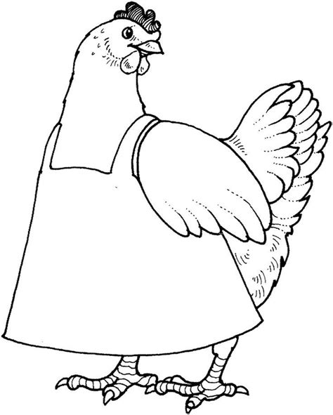 hen coloring page coloring home