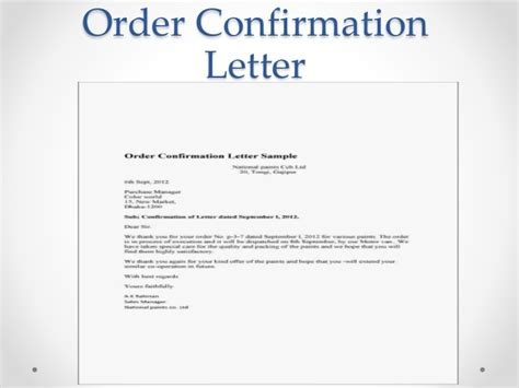 Purchase Order Letter To Supplier Business Communication