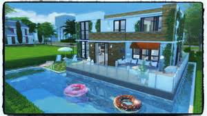 Building A Pool House by Sims 4 Building On Newcrest Modern House With Pool
