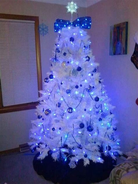 white tree with blue lights 17 best images about blue christmas on pinterest spanish
