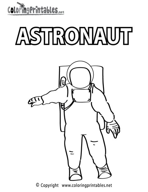 printable coloring pages educational free printable astronaut coloring page