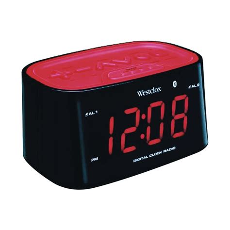 westclox bluetooth clock radio  digital clocks