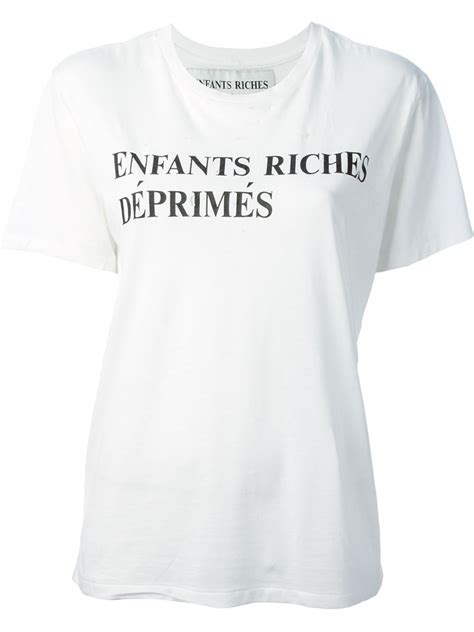 lyst enfants riches deprimes logo  shirt  white