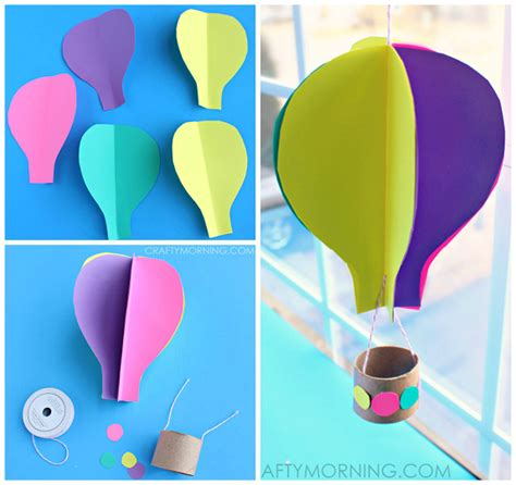 Beautiful Balloon Paper Craft Papermodeler by Spinning 3d Air Balloon Craft For To Make