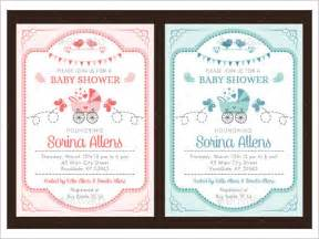 shower invitations templates baby shower invitation template 19 in vector psd