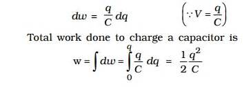 work done by a capacitor principle of a capacitor and energy stored in a capacitor study material lecturing notes