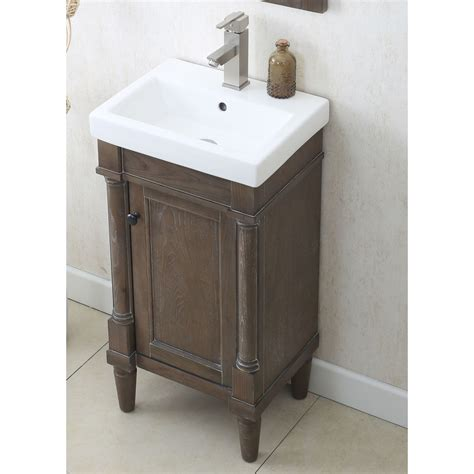 18 Bathroom Vanity And Sink Legion Furniture Wlf7021 18 18 Sink Vanity In Weathered Gray No Faucet