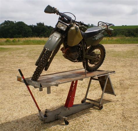 bike bench ex military heavy duty 500kg hydraulic motorcycle bike