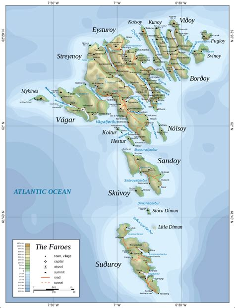 faroe islands map file map of the faroe islands en svg wikimedia commons