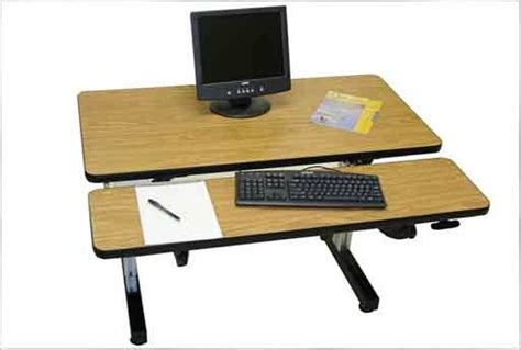 Ergonomic Desk Setup Two Monitors Ergo Desk Setup Ergonomic Reclining Desks Find The Position For Your Adjustable Desk