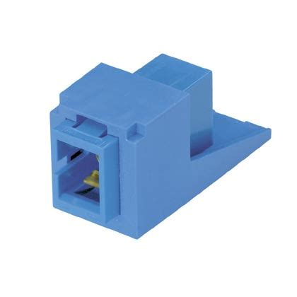 G Ci White Ceramic panduit mini sm sc blue duplex adapter module