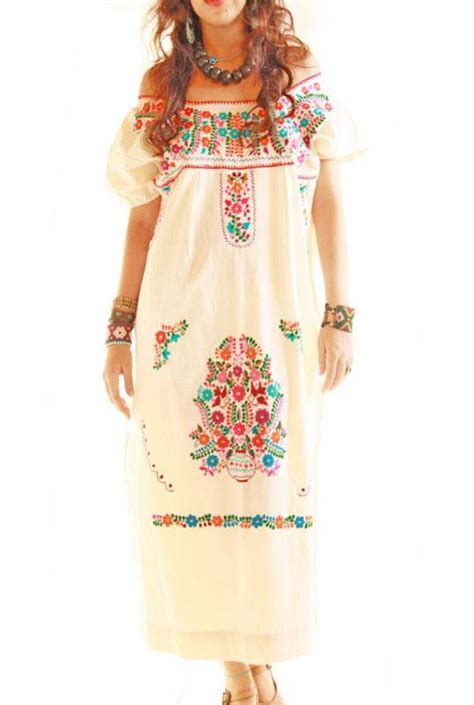 Etnic Maxy Dress handmade mexican embroidered dresses and vintage treasures