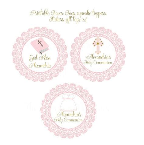 printable baptism stickers personalized baby girl baptism christening por