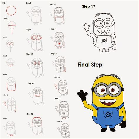 doodle draw minion how to draw step by step learn tips realistic hyper