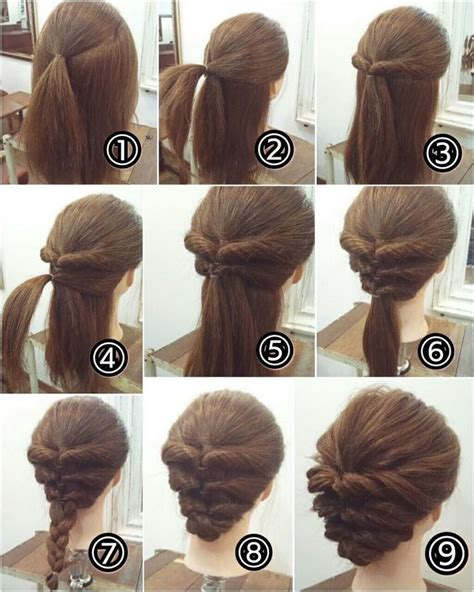 braids updo for short hairstep by step 25 best ideas about easy casual updo on pinterest