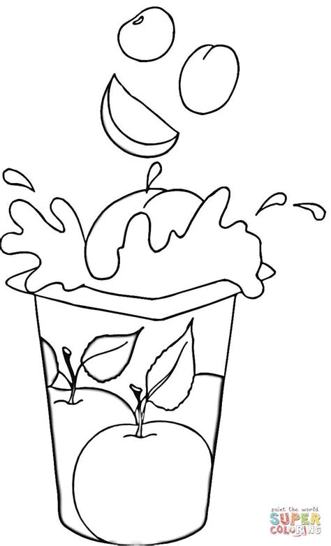 Coloring Page Yogurt by Fruit Yogurt Coloring Page Free Printable Coloring Pages