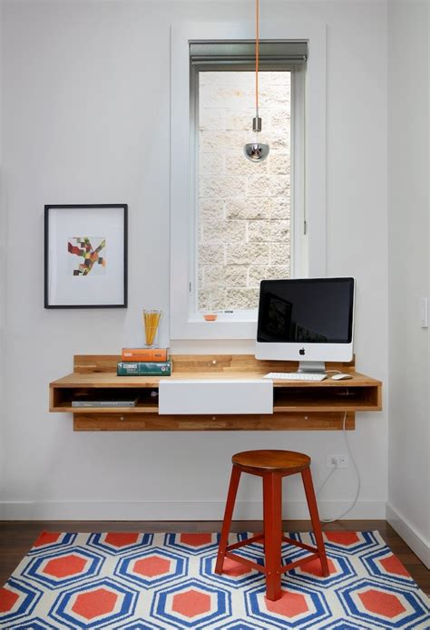 cool wall mounted desk for imac computer to optimize your