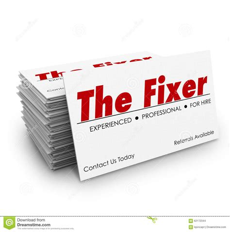 The Fixer the fixer business card stack problem solver solution