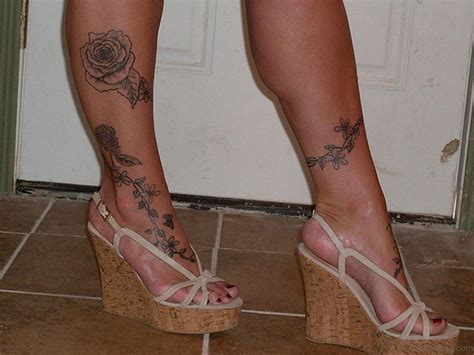 rose tattoo on leg 36 fancy tattoos on leg