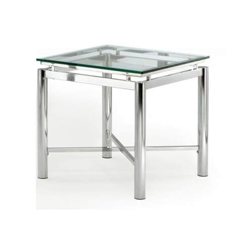 silver and glass end tables steve silver company glass top end table nv100ex