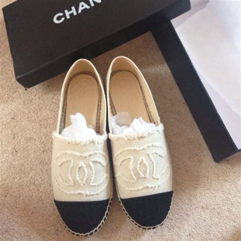brand new chanel espadrilles size 39 uk 6 but fit a size a depop