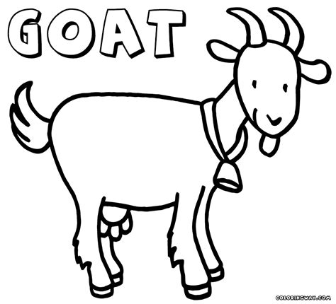 cartoon goat coloring page coloring pages goat az coloring pages