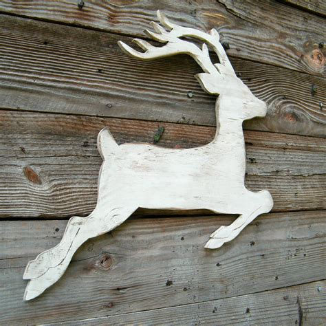 pattern for white wooden reindeer items similar to reindeer white christmas wood winter