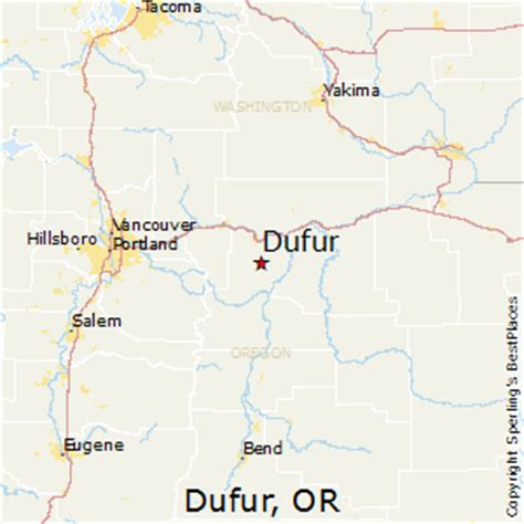 dufur oregon map best places to live in dufur oregon