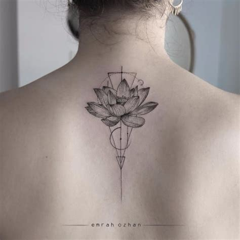 watercolor tattoo emrah jentheripper geometric lotus by emrah ozhan