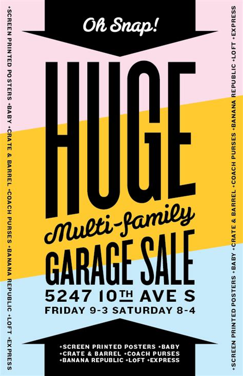 Sale Garage by I M A Garage Sale With Screen Printed Posters