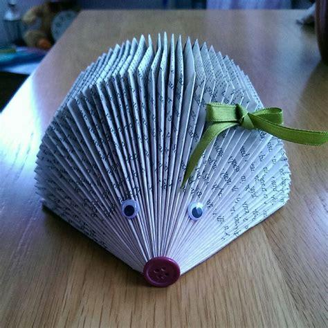 Book Hedgehog Library Crafts