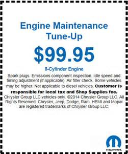 Chrysler Coupons For Service Dodge Service Coupons For Sherman