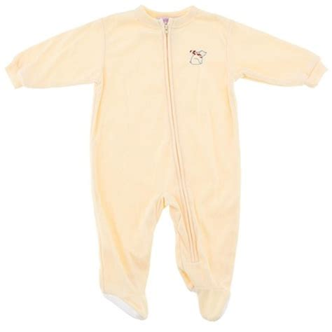 Yellow Sleeper by Yellow Solid Footed Sleeper Pajamas For Infant