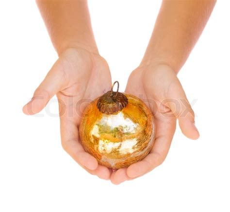 Best Home Colour Hands Holding Christmas Ball Stock Photo Colourbox