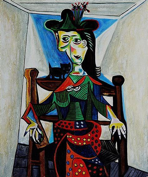 dora maar in an armchair dora maar with cat by pablo picasso picasso s cats