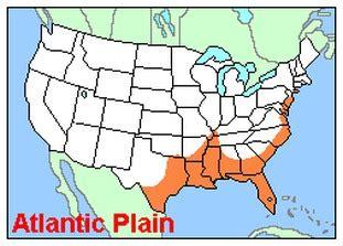 gulf coastal plain map atlantic and gulf coastal plains united states and canada