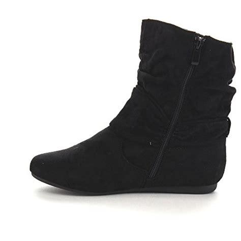 beston ga43 women s fashion calf flat heel side zipper