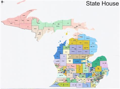 michigan house of representatives michigan state house of representatives district map michigan map
