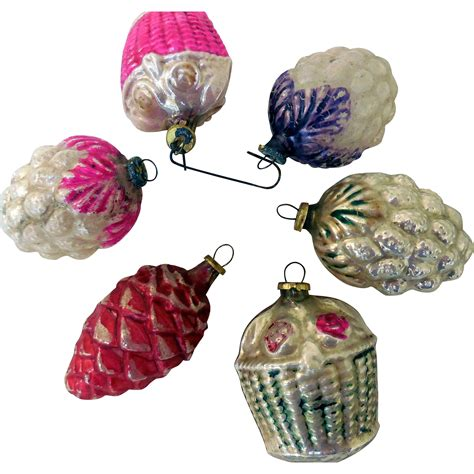 vintage mini glass christmas tree ornaments japan from