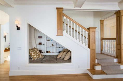 Reading Nook 8 clever ways to utilize that awkward space under your stairs