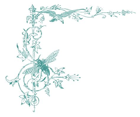 the graphics fairy llc vintage clip art wonderful vintage graphic bracket scrolls and jeweled bee the