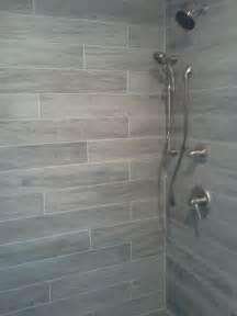 grey wood tile bathroom 25 best ideas about gray shower tile on