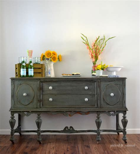 before after vintage buffet stylish patina see more