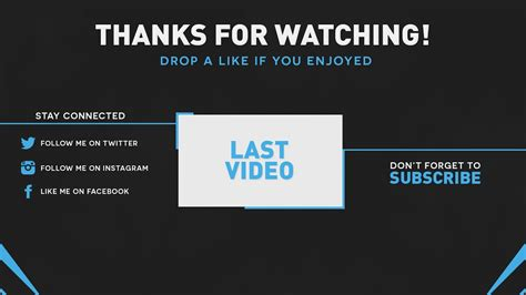 Best Outro Template 2015 Custom Colors Psd Youtube Outros Templates