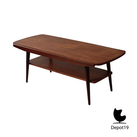 60s style coffee table louis teeffelen stijl teak salontafel 50s depot 19